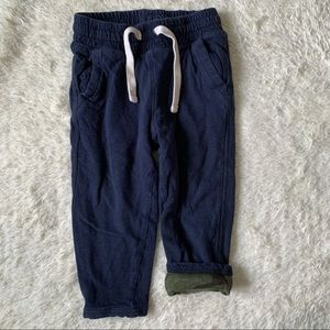 BABY GAP | Navy Blue Sweatpants with Camo Lining